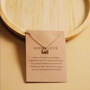 New Lucky Elephant Charm Color Gold